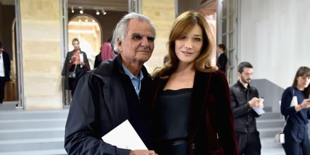 Patrick Demarchelier et Carla Bruni au défilé Dior à la Fashion Week de Paris, en 2016