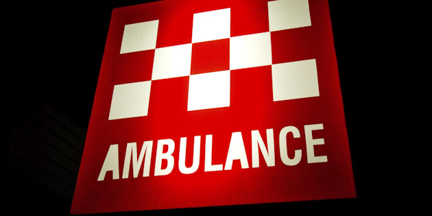 A truckie has been airlifted to hospital after a collision with a train in Victoria.
