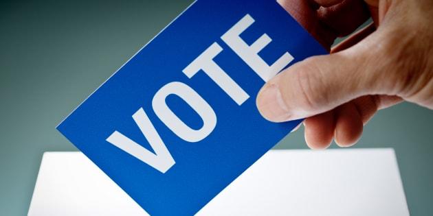 Un bulletin de vote.