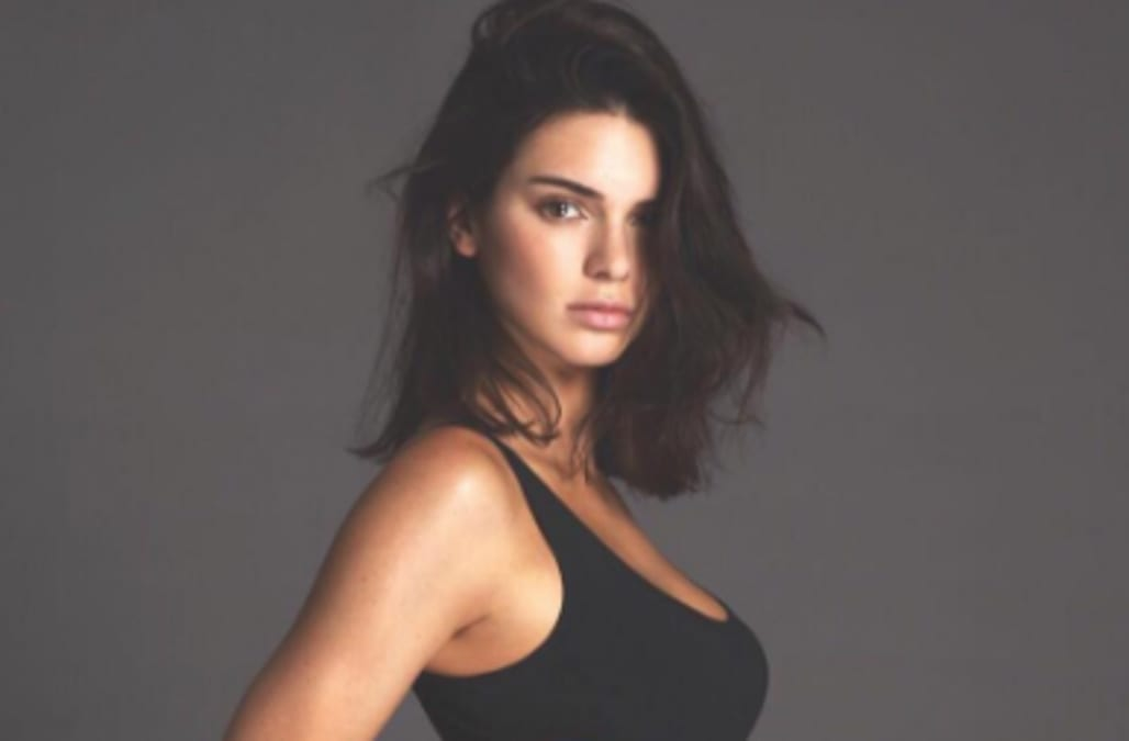 Kendall Jenner Rocks Seriously High Cut Black Swimsuit In