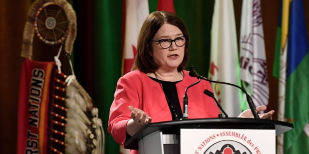 Indigenous Services Minister Jane Philpott speaks at the Assembly of First Nations Special Chiefs Assembly in Ottawa on Wednesday, Dec. 6, 2017.
