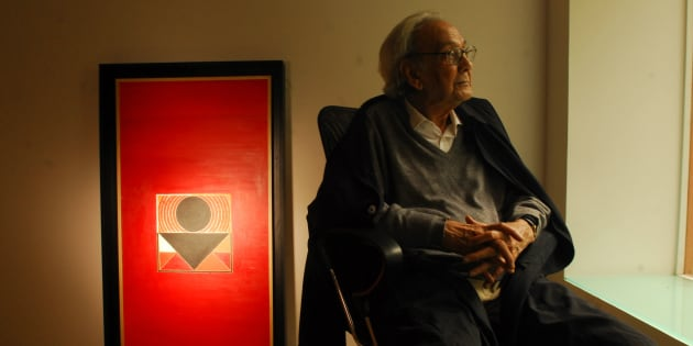 Syed Haider Raza in New Delhi, the week he turned 85.
