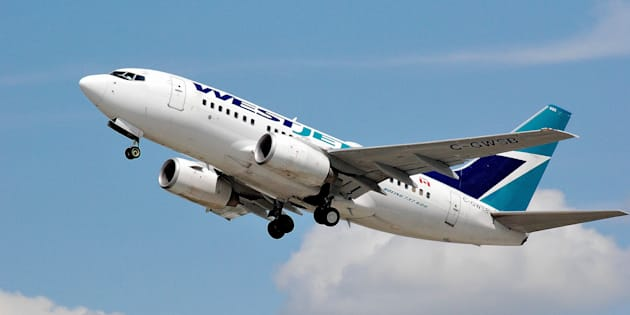 A WestJet Boeing 737 takes off from Montreal's Pierre Elliot Trudeau Airport.