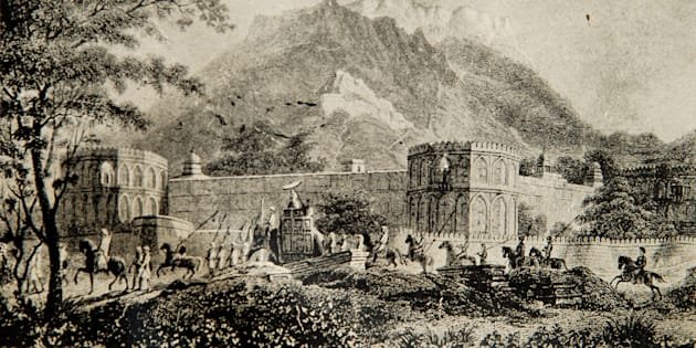 The magazine in 1818 A.D. Akbar's Palace at Ajmer