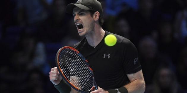 Andy Murray à l'O2 Arena de Londres pour le Masters, le 20 novembre 2016.