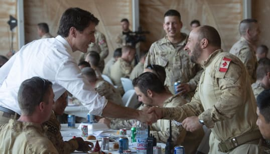 Trudeau Makes Surprise Visit To Canadian Peacekeepers In