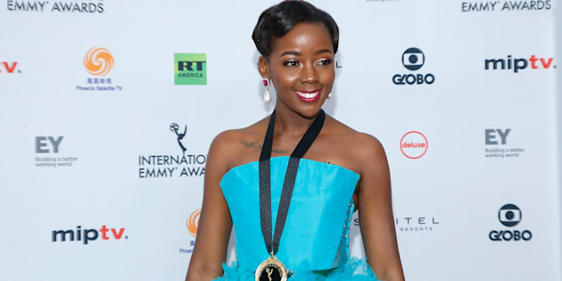 Thuso Mbedu at the Emmy Awards in New York on November 20, 2017.