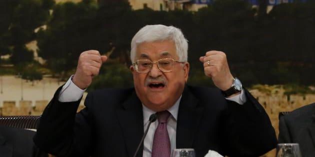 El presidente de Palestina, Mahmud Abbas, se dirige al Consejo Central Palestino, el pasado enero en Ramala (Cisjordania).