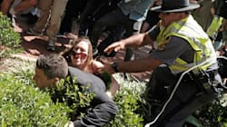 Protester Tackles Organizer Of Deadly Virginia Rally At Press