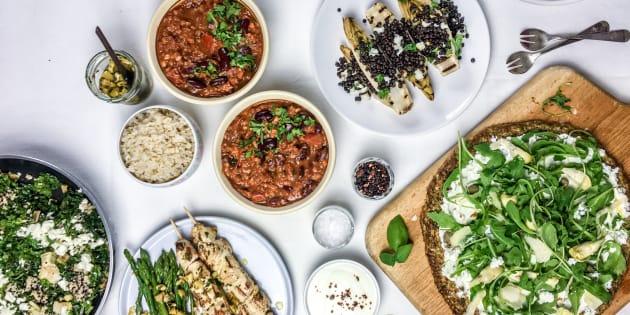 Cenas fáciles y sanas