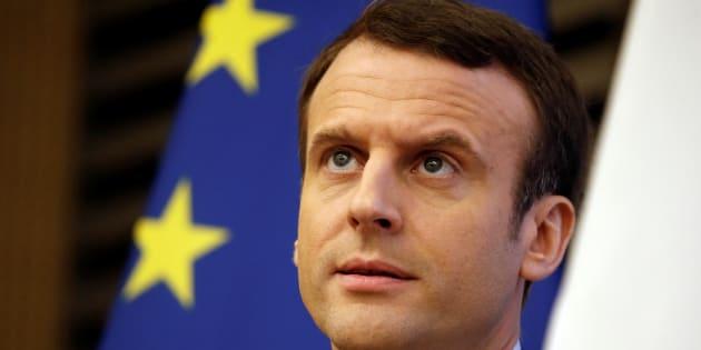 Emmanuel Macron à l'Assemblée nationale le 8 mars 2017.