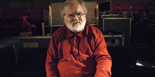 Pierre Henry le 9 décembre 2007, dans un studio d'enregistrement à Paris.