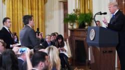 Donald Trump pierde los estribos y arremete contra periodistas en la Casa