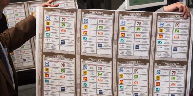Lorenzo Córdova, consejero presidente del INE, encabezó el inicio de la impresiones de la boleta electoral para elegir al Presidente de la República el próximo 1 de Julio, en las instalaciones, 6 de mayo de 2018.