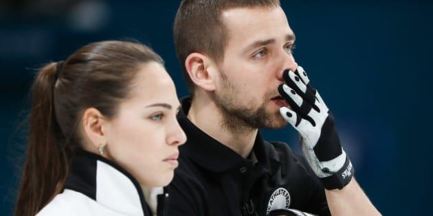 Curlers Alexander Krushelnitsky et Anastasia Bryzgalova