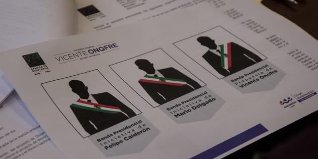 Aspectos de la segunda reunión ordinaria de trabajo donde se abordó el tema sobre el cambio de colores de la banda presidencial.