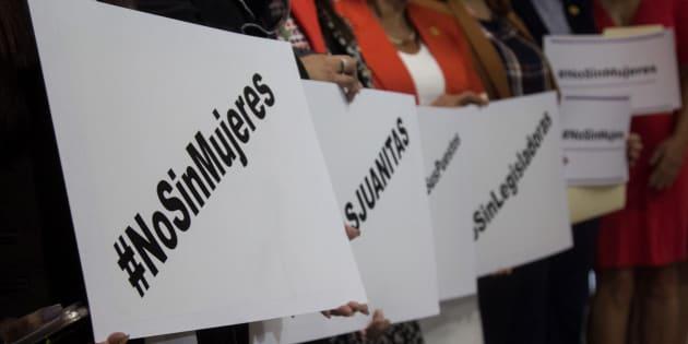En septiembre pasado, legisladoras de las diferentes bancadas ofrecieron conferencia de prensa para exigir que se detenga la violencia política en contra de las mujeres.