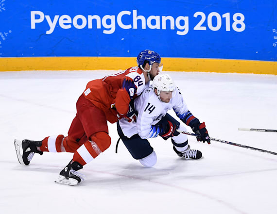 US men's hockey team loses in heartbreaking shootout
