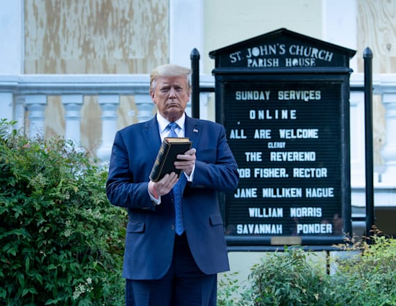 Trump: Most religious leaders loved church photo