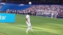 Lors de sa présentation au Real Madrid, la série de jongles de ce joueur français tourne