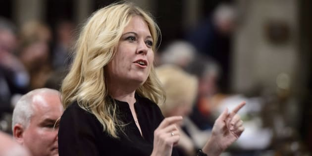 Conservative MP Michelle Rempel stands during question period in the House of Commons on March 27, 2018.