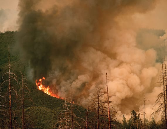 Fast-spreading Calif. wildfire nears Yosemite park