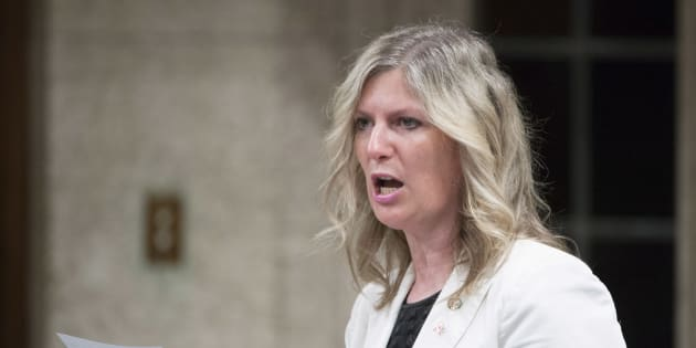 Leona Alleslev rises in the House of Commons in Ottawa