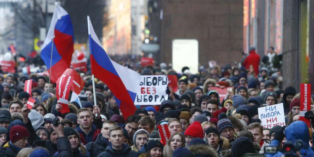 Manifestations en Russie pour le boycott de l'élection présidentielle