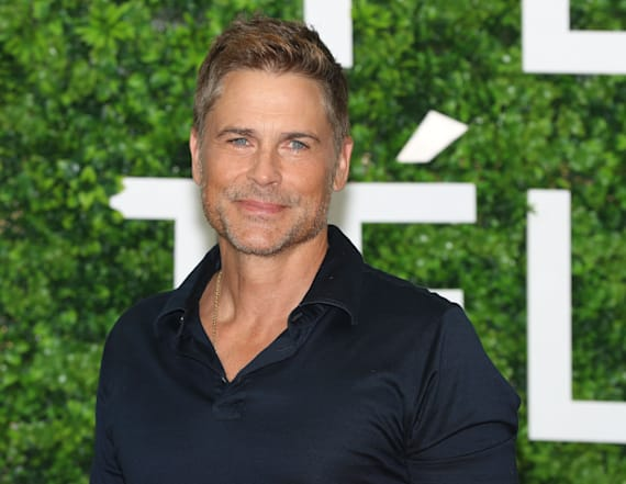 Rob Lowe's wife of 28 years walks red carpet