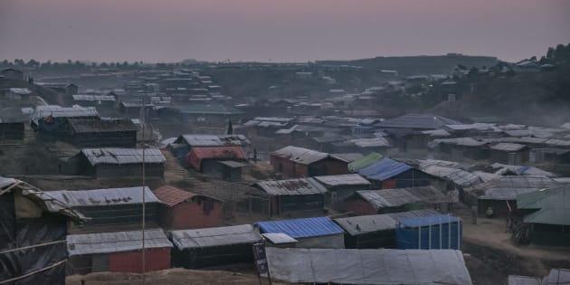 Un camp de réfugiés rohingyas au Bangladesh.