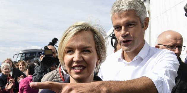 Laurent Wauquiez et Virginie Calmles aux Etables le 3 septembre 2017.