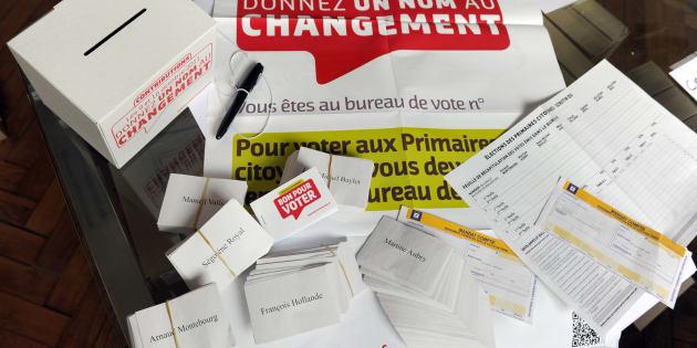 La primaire PS (ici le matériel de vote de 2011) aura lieu les 22 et 29 janvier.
