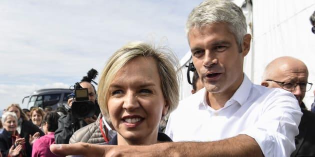 Virginie Calmels et Laurent Wauquiez au mont Mézenc au mois de septembre.