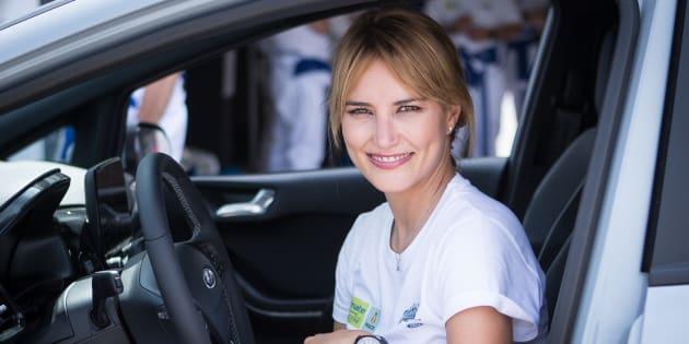 Alba Carrillo en un evento en el circuito del Jarama, en Madrid, el 6 de julio de 2018.