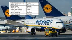 La liste des 110 vols français annulés par Ryanair jusqu'à fin