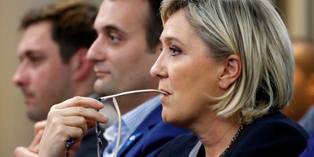 Marine Le Pen, leader du Front national (FN), lors d'un débat du FN à Paris, le 8 novembre 2016.