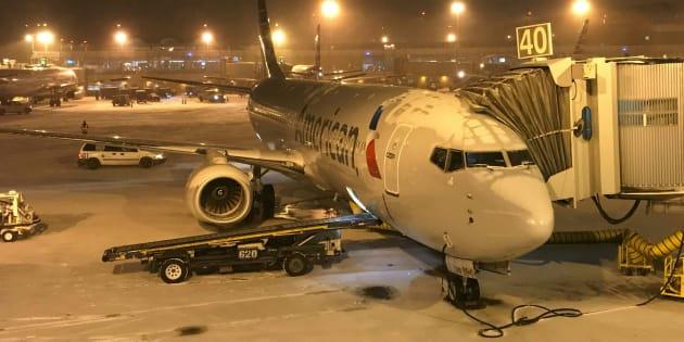 Un avion à l'aéroport Ronald Reagan près de Washington, DC.
