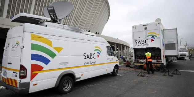 An SABC Satellite truck beaming back Television signals from the Moses Mabhida Stadium in Durban, South Africa, one of the host stadiums for the 2010 FIFA World Cup. (Photo by AMA/Corbis via Getty Images)