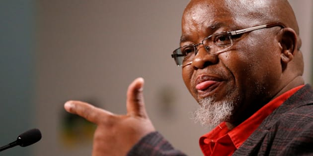 African National Congress (ANC) Secretary General Gwede Mantashe gestures during a media briefing at Luthuli house, the ANC headquarters in Johannesburg, South Africa, May 29, 2017.