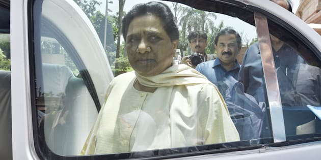BSP Chief Mayawati after attending Rajya Sabha Monsoon Session at parliament House on July 20, 2016 in New Delhi, India.