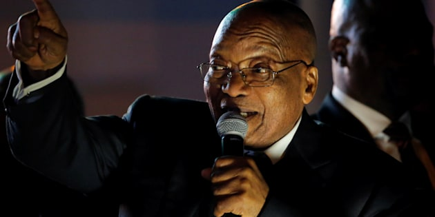 President Jacob Zuma after he survived a no-confidence motion in Parliament last year.