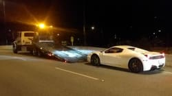 B.C. Ferrari Driver Clocked At 210 Km/H On Lions Gate
