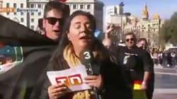 Una periodista de TV3, increpada en una manifestación de policías y guardias