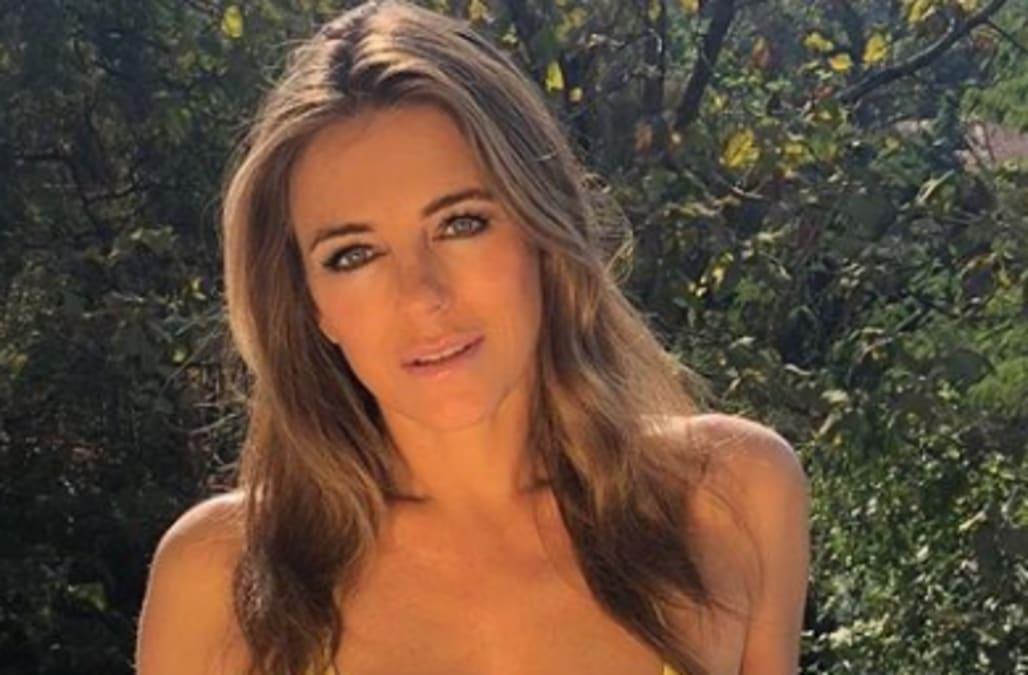 d200f66e7c Elizabeth Hurley, 53, stuns in a yellow bikini: 'The most beautiful ...