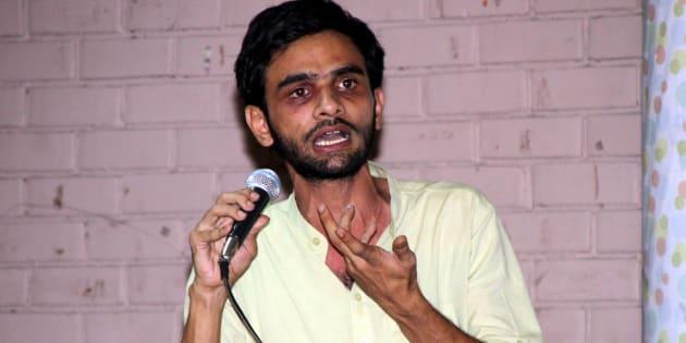 File photo of JNU students' union leader Umar Khalid.