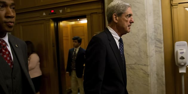 Robert Mueller, former director of the Federal Bureau of Investigation (FBI) and special counsel for the U.S. Department of Justice, leaves a meeting with members of the Senate Judiciary Committee in Washington, D.C. on Wednesday, June 21, 2017.