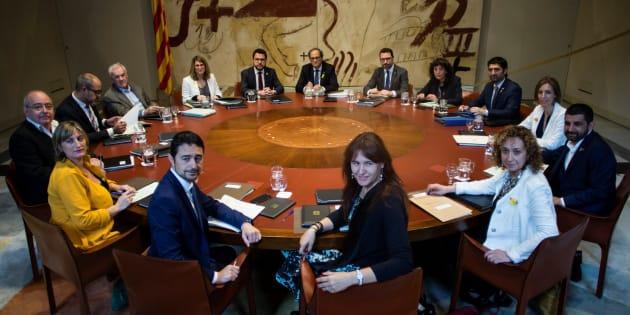 Reunión del Govern de la Generalitat, presidido por Quim Torra.