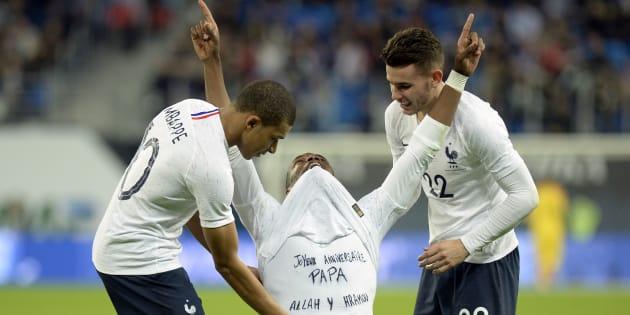 Russie-France: Paul Pogba rend un bel hommage à son père décédé après son magnifique but