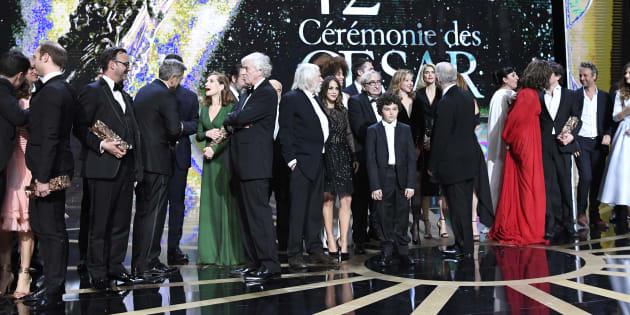 """César 2018: Pourquoi """"Balance ton porc"""" a touché tout le monde en France, sauf le cinéma (photo: Les gagnants de la 42ème cérémonie des César)"""