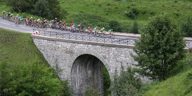 Lors de l'étape Megeve-Avoriaz du Tour de France le 23 juillet 2016.